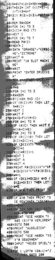 Programmlisting Sharp PC-1251